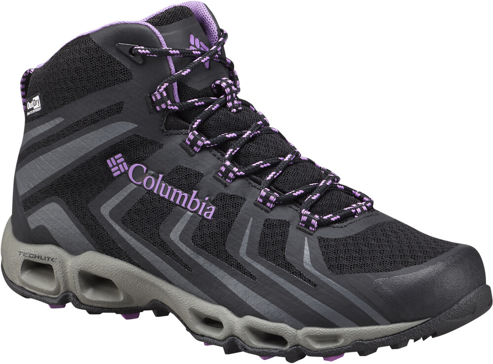 Columbia Ventralia 3 Mid Outdry Shoes Women Black/Crown Jewel US 6 STcK6yTmRN